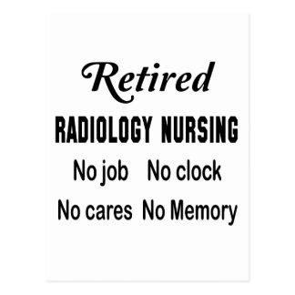 Radiología jubilada que no cuida ningún trabajo postal