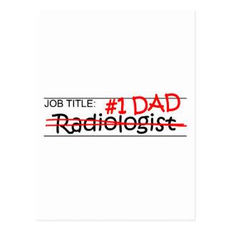 Radiólogo del papá del trabajo postales