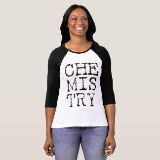 Raglán de las señoras de la química camiseta