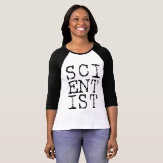 Raglán de las señoras del científico camiseta
