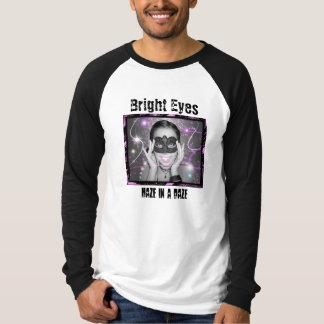 Raglán largo de la manga de los ojos brillantes camisetas