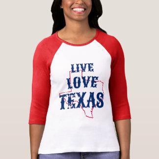 Raglán vivo de Tejas del amor Camisas