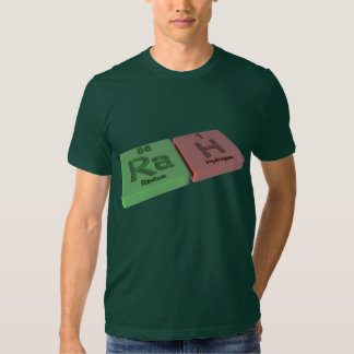 Rah como el radio del Ra e hidrógeno de H Camisetas