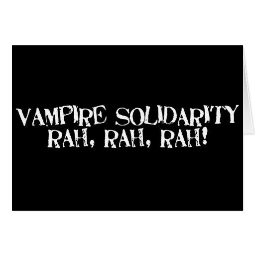 ¡Rah de la solidaridad del vampiro, rah, rah! Felicitaciones