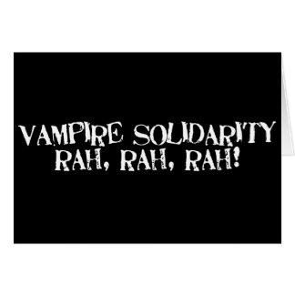 ¡Rah de la solidaridad del vampiro, rah, rah! Tarjeta De Felicitación