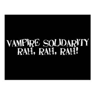 ¡Rah de la solidaridad del vampiro, rah, rah! Postal