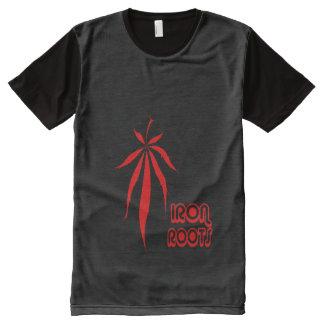 Raíces del hierro - camiseta negra del descenso