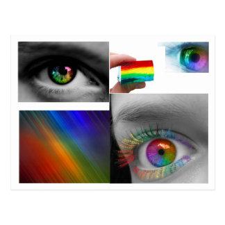 rainbow_eye, eyerb, Rainbow_Eye_by_Graciebug, R… Postal