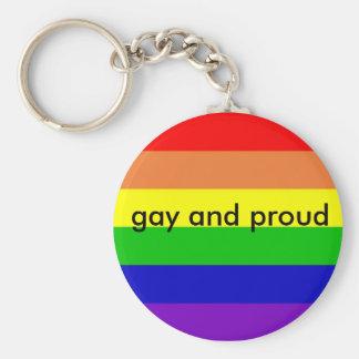 rainbow_flag_1024_768, gay y orgulloso llavero redondo tipo chapa