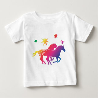 Rainbow Horse Couple Camisetas