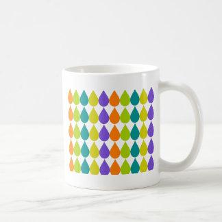 Raindrops3 retro taza de café