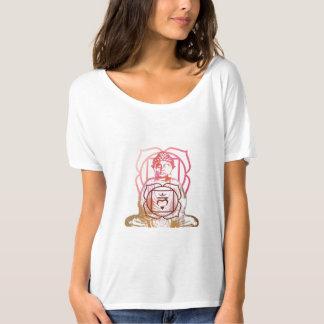 Raíz Chakra y camiseta del vintage de Buda