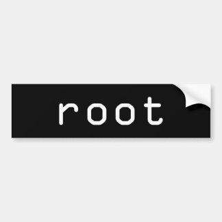 raíz pegatina para coche