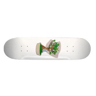 Raíz sobre imagen del gráfico de la parte posterio tablas de patinar