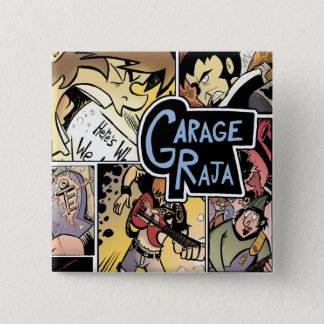 Raja del garaje:  Botón del collage