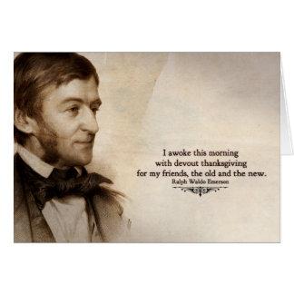 Ralph Waldo Emerson le agradece cardar Tarjeta