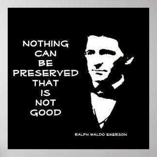 Ralph Waldo Emerson - palabras de la sabiduría Póster