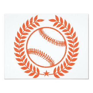 Rama de olivo y estrella del béisbol invitación 10,8 x 13,9 cm
