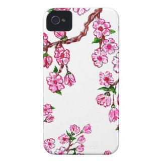 Rama de Sakura que pinta 2 Carcasa Para iPhone 4 De Case-Mate