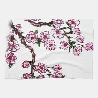 Rama de Sakura que pinta 5 Toallas De Mano