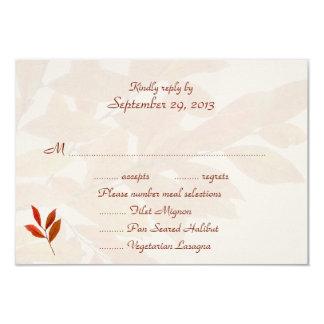 Ramas anaranjadas, tarjetas de contestación del invitación 8,9 x 12,7 cm