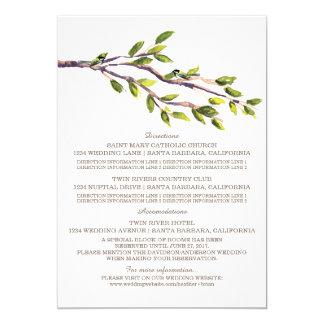 Ramas cepilladas que casan la tarjeta de invitación 12,7 x 17,8 cm