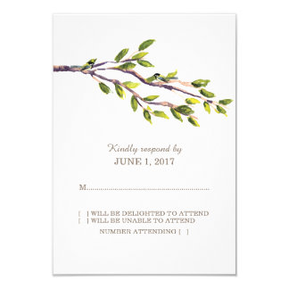 Ramas cepilladas que casan la tarjeta de la invitación 8,9 x 12,7 cm