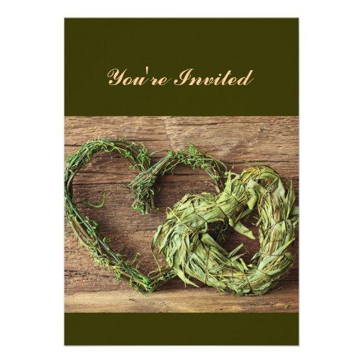 Ramas de árbol del amor invitación personalizada