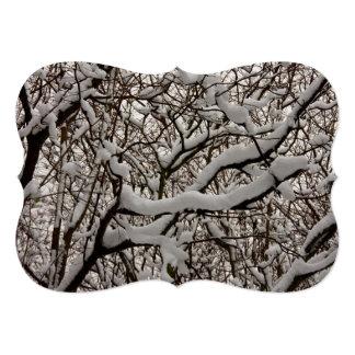 Ramas de árbol nevadas comunicado personal