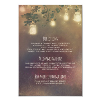 Ramas de árbol rústicas y tarros de albañil que invitación 8,9 x 12,7 cm