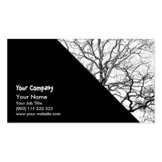 Ramas de árbol tarjetas de visita