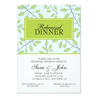 Ramas de la cena verde del ensayo de las hojas anuncio personalizado