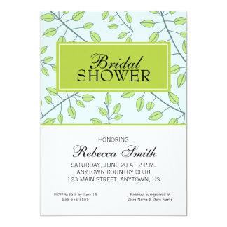 Ramas de la ducha nupcial de las hojas verdes comunicados personales