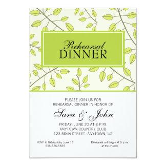 Ramas de las hojas verdes, cena del ensayo