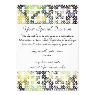 Ramas de oro del otoño del damasco + Hojas Invitaciones Personalizada