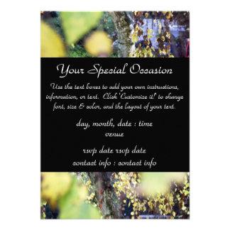 Ramas de oro del otoño + Hojas Invitacion Personal
