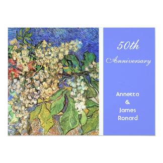 Ramas florecientes de las castañas, Van Gogh. Invitación 13,9 X 19,0 Cm