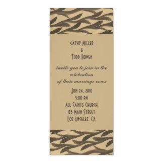 ramas marrones elegantes del biege invitación 10,1 x 23,5 cm