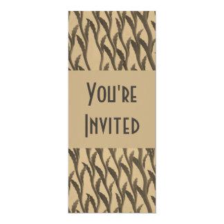 ramas marrones elegantes del biege invitación