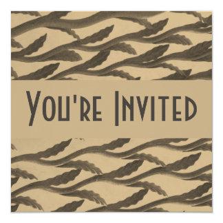ramas marrones elegantes del biege invitación 13,3 cm x 13,3cm