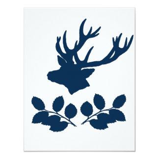 Ramas principales del acebo de los ciervos invitación 10,8 x 13,9 cm