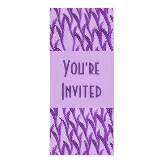 ramas púrpuras elegantes invitación 10,1 x 23,5 cm