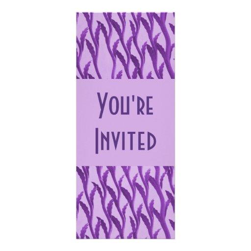 ramas púrpuras elegantes anuncios personalizados