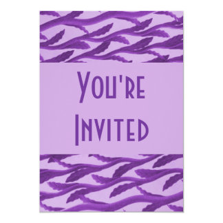ramas púrpuras elegantes invitación 12,7 x 17,8 cm