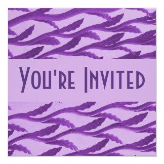 ramas púrpuras elegantes invitación 13,3 cm x 13,3cm
