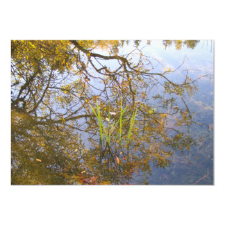 Ramas reflejadas invitación 12,7 x 17,8 cm