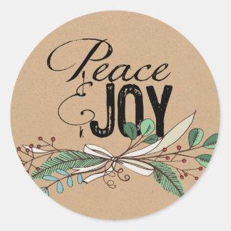 Ramas y pegatina de la paz y de la alegría de las