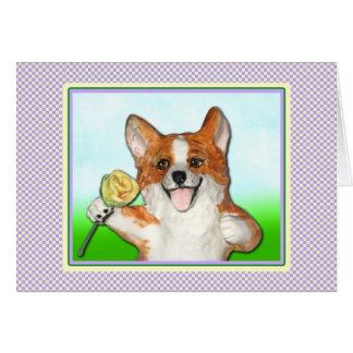 Ramblin subió la tarjeta de felicitación del Corgi