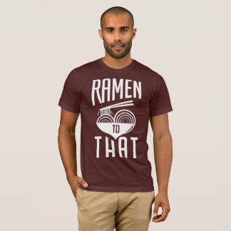 Ramen a esa camiseta - regalo del diseño simple de