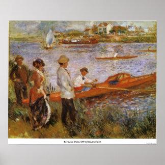 Rameurs un Chatou 1879 de Eduardo Manet Póster